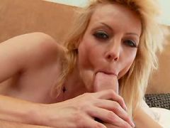 Milf sucked cock and gets fucked by big dick