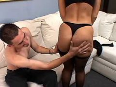 Mature with nice ass has sex from behind