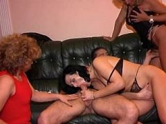 Two matures get facial after sexorgy
