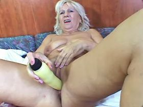 Granny blows big black cock and has fuck from behind