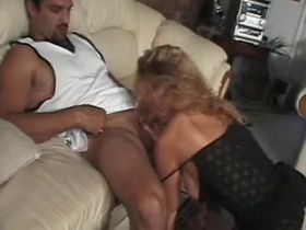 Elder blonde mature has oral and jumps on big cock