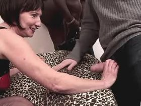 Depraved granny has oral and hot fuck with two guys
