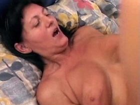 Mature has hard fuck from behind and gets creampie