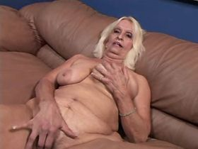 Depraved granny sucks and has fuck in doggy style