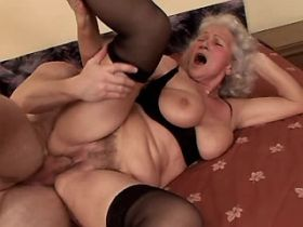 Lewd granny fucks in diff poses and gets creampie