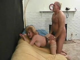 Old mature gets facial after hard sex in all holes