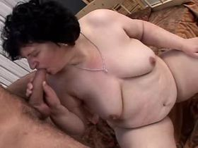 Fat old slut gets sperm in old cunt after hard sex