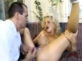 Fantastic milf with big breast fucking on sofa
