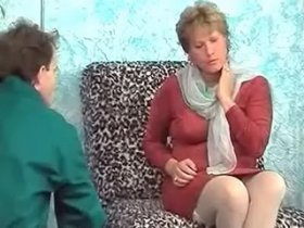 Retired lady in stockings cumsprayed after fuck