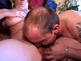Aged man and milf lick pussy of greyhaired granny