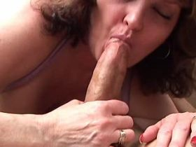 Cute chubby mature fucking and drinking fresh sperm
