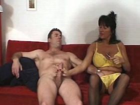 Hot aged mature does blowjob and fucks from behind