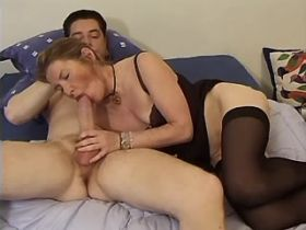 Hot mature fucks in all holes and gets fresh facial