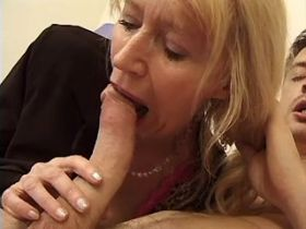 Aged mature has anal and titsfuck and gets cumshot