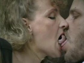 Aged blond mature does hot blowjob with big pleasure