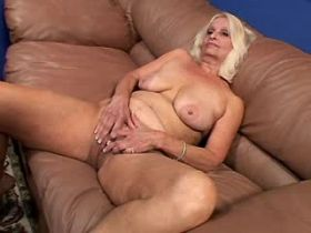 Aged mature sucks and fucks from behind on sofa