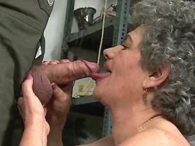 Lewd granny fucks in diff positions and gets facial