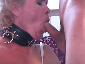 Granny fucks in diff poses and gets cumshot on ass