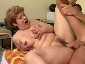 Chubby mature has fuck in diff poses and gets facial